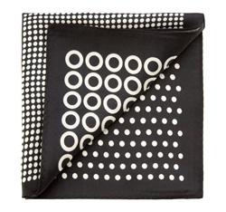 Díszzsebkendő, fehér fekete, 85-7P-X01-X3, Fénykép 1