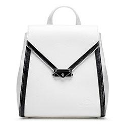 Női bőr hátizsák, fehér fekete, 92-4E-312-0, Fénykép 1