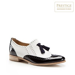 Női cipő, fehér fekete, 86-D-107-0-39, Fénykép 1