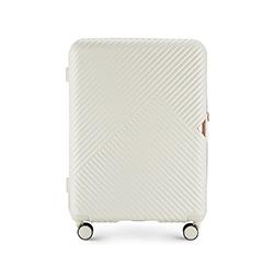 Közepes bőrönd, fehér, 56-3P-842-88, Fénykép 1