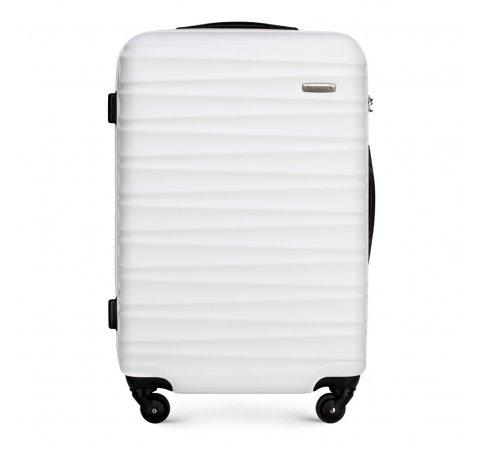 Közepes bőrönd, fehér, 56-3A-312-34, Fénykép 1