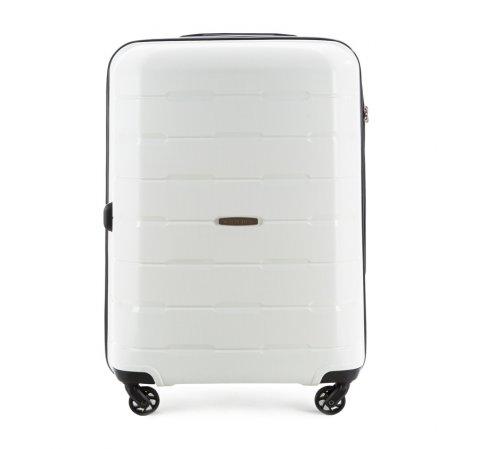 Közepes bőrönd, fehér, 56-3T-722-88, Fénykép 1