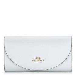 Minimalista bőr levéltáska, fehér, 92-4E-659-00, Fénykép 1