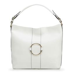 Női shopper táska bőrből karikával, fehér, 92-4E-627-0, Fénykép 1