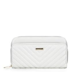 Női steppelt pénztárca, fehér, 92-1Y-576-0, Fénykép 1