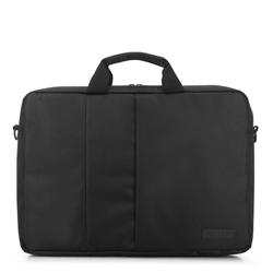 Férfi 17 hüvelykes laptop táska elülső zsebbel, fekete, 91-3P-703-1, Fénykép 1