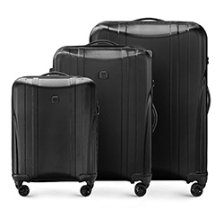 3 darabos bőrönd-készlet, fekete, 56-3P-91S-10, Fénykép 1