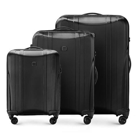 3 darabos bőrönd-készlet, fekete, 56-3P-91S-00, Fénykép 1