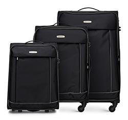 Bőröndszettek, fekete, 56-3S-46S-12, Fénykép 1