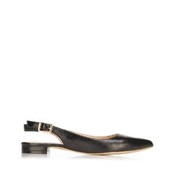 Női bőr félcipő sarok nélkül, fekete, 92-D-553-1-37, Fénykép 1