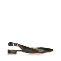 Női bőr félcipő sarok nélkül, fekete, 92-D-553-1-41, Fénykép 1