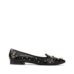 Lords hegyes cipő bőrből, fekete arany, 93-D-752-1-41, Fénykép 1