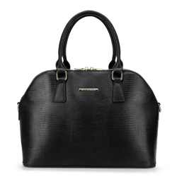 Ecobőr táska két cipzárral, fekete arany, 92-4Y-216-01, Fénykép 1