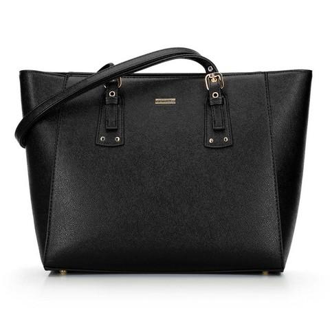 Shopper táska állítható fogantyúval, fekete arany, 92-4Y-610-N, Fénykép 1