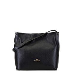 Bőr hobo táska, fekete, 92-4E-311-1, Fénykép 1