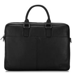 Üzleti bőrtáska egyszerű, fekete, 91-3U-302-1, Fénykép 1