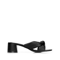 Bőr peremes sarkú szandál, fekete, 92-D-755-1-40, Fénykép 1