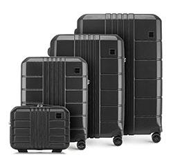 Bőröndszett polikarbonátból, fekete, 56-3P-82K-10, Fénykép 1