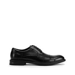 Férfi klasszikus bőr derby cipő, fekete, 93-M-526-1-42, Fénykép 1