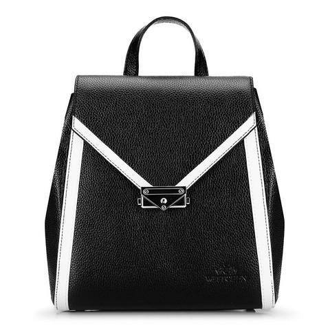 Női bőr hátizsák, fekete és fehér, 92-4E-312-0, Fénykép 1