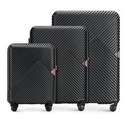 Bőröndszettek, fekete, 56-3P-84S-10, Fénykép 1