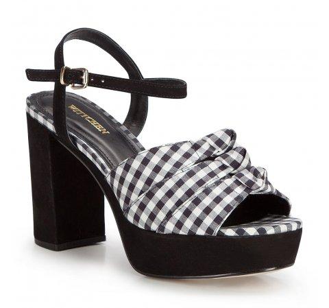 Női cipő, fekete és fehér, 86-D-759-1-39, Fénykép 1
