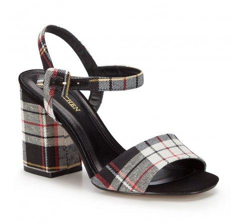 Női cipő, fekete és fehér, 86-D-758-X-39, Fénykép 1