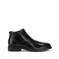 Férfi bélelt bőr bokacsizma cipzárral, fekete, 93-M-919-1-44, Fénykép 1