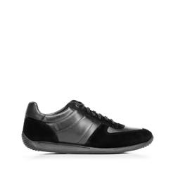 Férfi bőr edzőcipők, fekete, 92-M-350-1-42, Fénykép 1