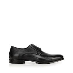 Férfi bőr félcipő derby, fekete, 92-M-918-1-45, Fénykép 1