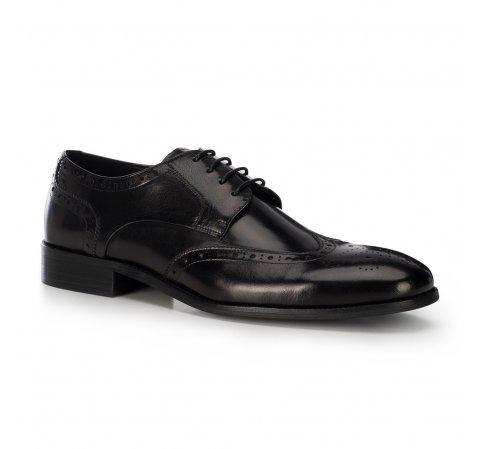 férfi bőrpapucs, fekete, 91-M-900-4-45, Fénykép 1