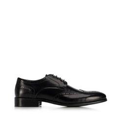 férfi bőrpapucs, fekete, 91-M-900-1-43, Fénykép 1