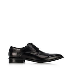 férfi bőrpapucs, fekete, 91-M-901-1-45, Fénykép 1