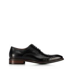 férfi bőrpapucs, fekete, 91-M-906-1-45, Fénykép 1