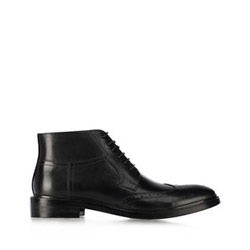 férfi magasszárú cipő, fekete, 91-M-903-1-43, Fénykép 1