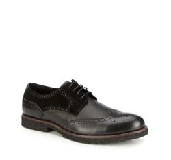 Férfi cipő, fekete, 87-M-919-1-44, Fénykép 1