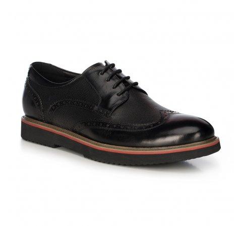 Fekete férfi bőrcipő, fekete, 91-M-902-1-44, Fénykép 1