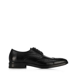 Férfi bőrpapucs, fekete, 91-M-904-1-44, Fénykép 1