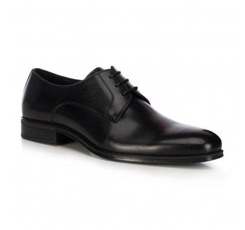 Férfi bőrpapucs, fekete, 91-M-907-7-39, Fénykép 1