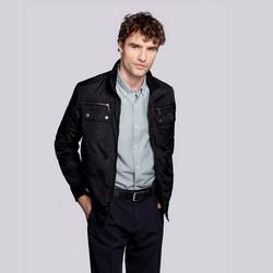 Férfi Harrington kabát, fekete, 92-9N-451-1-3XL, Fénykép 1