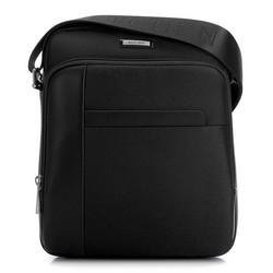 Férfi közepes postás táska, fekete, 91-4U-201-1, Fénykép 1
