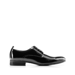 Férfi lakkozott  cipő bőrből, fekete, 92-M-509-1-40, Fénykép 1