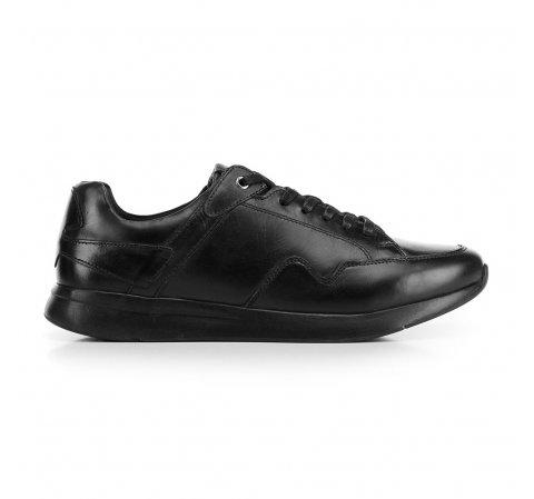 Férfi sneakers szemes bőrből, fekete, 92-M-301-8-44, Fénykép 1