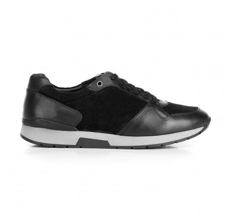 Férfi sneakers velúr- és szemes bőrből, fekete, 92-M-300-7-46, Fénykép 1