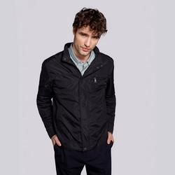 Férfi széldzseki kabát rejtett cipzárral, fekete, 92-9N-450-1-S, Fénykép 1