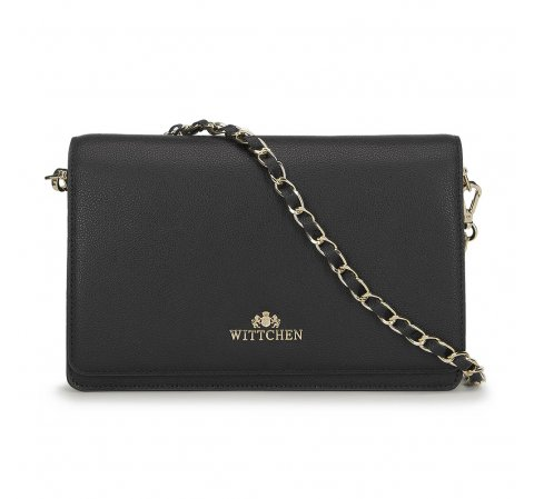 borítéktáska típusú női táska, fekete, 91-4E-617-4, Fénykép 1