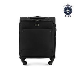 Kabinbőrönd egyszínű, fekete, 56-3S-531-10, Fénykép 1