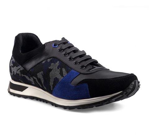 Férfi cipő, fekete kék, 85-M-927-1-41, Fénykép 1