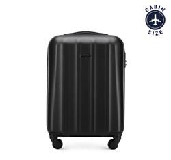 Polikarbonát kis kabin bőrönd, fekete, 56-3P-111-10, Fénykép 1