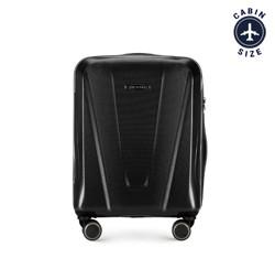 Kabinbőrönd polikarbonát geometrikus mintával, fekete, 56-3P-121-10, Fénykép 1